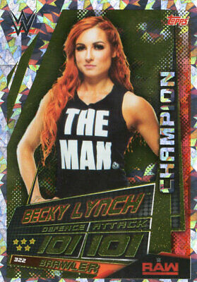 Topps Wwe Slam Attax Universe - Becky Lynch Champion Card - Wrestling - Raw
