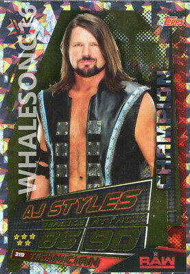 Topps Wwe Slam Attax Universe - Aj Styles Champion Card - Wrestling - Raw