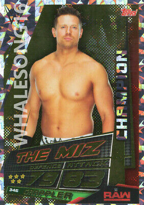 Topps Wwe Slam Attax Universe - The Miz Champion Card - Wrestling - Raw