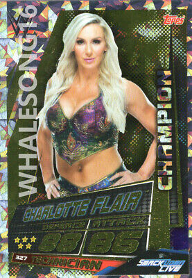 Topps Wwe Slam Attax Universe - Charlotte Flair Champion Card - Wrestling