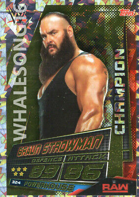 Topps Wwe Slam Attax Universe - Braun Strowman Champion Card - Wrestling - Raw