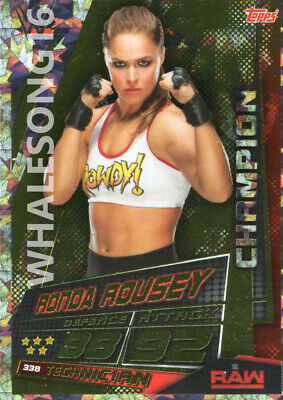 Topps Wwe Slam Attax Universe - Ronda Rousey Champion Card - Wrestling - Raw