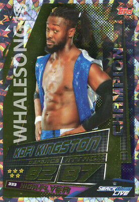 Topps Wwe Slam Attax Universe - Kofi Kingston Champion Card - Wrestling