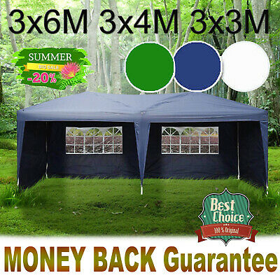 Gazebo 3x6m Waterproof Outdoor Stronger SIDE PE Garden Marquee Canopy Party Tent