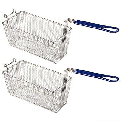 2Pcs Deep Fat Fryer Basket Commercial Kitchen Chip Frying Fish Food Thick Tube