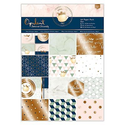 A4 PAPER PACK - Forever Friends Opulent Collection - Docrafts