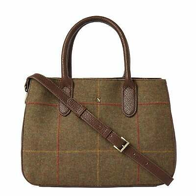 Joules Thernwell Tweed Larger Grab Bag - Brown - RRP £69.95 Our Price £49.95