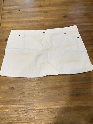 MANGO White Denim Skirt Size 16