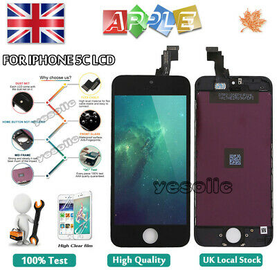 For iPhone 5C Screen Replacement LCD Touch Digitizer Display Assembly Black