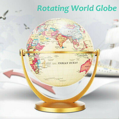 360° Rotating World Earth Globe Map Geography Education Toy Desktop Decor New