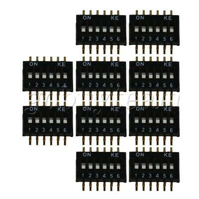 10 x DIP Switch 1.27mm Pitch 6 Position 12 Pin Patch Coding Switch Black