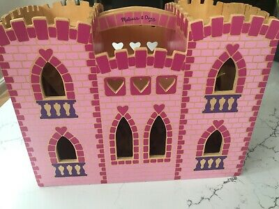 Melissa Doug Wooden Princess Castle With Furniture