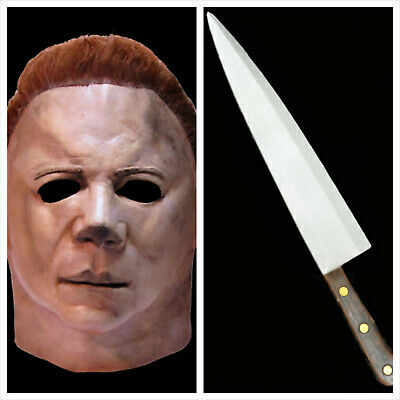 Officially Licensed Halloween II Michael Myers Mask & Butcher Knife Combo SAVE$$