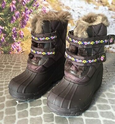 New Marks And Spencer Girls Winter/Snow Boots Size Uk 2 Eur 34.5