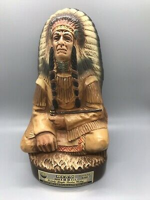 1979 Jim Beam Native American Indian Chief Full Size Decanter