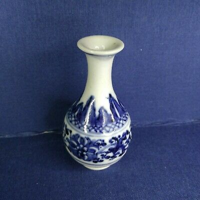 Antique Chinese small vase from porcelain, 19th century.