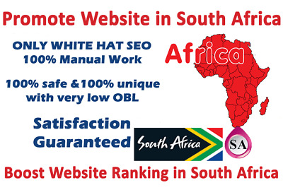 Promote Website in South Africa Promote Website in Worldwide (20 Submissions)