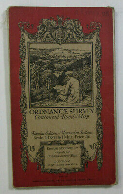 1928 Old Vintage OS Ordnance Survey one-inch Popular Edition Diss Map 95 Luton