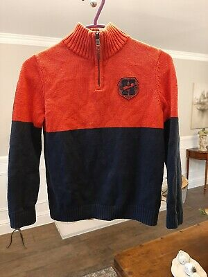 """Tommy Hilfiger Boys Jumper Age 6 to 7 years 100%cotton Pullover 15"""" Pit to Pit"""