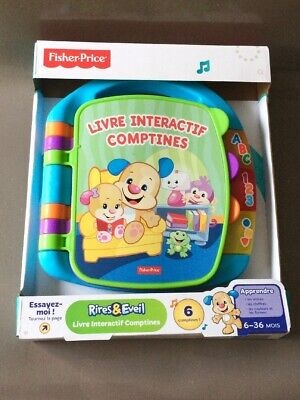 Livre Interactif Comptines Fisher Price 6 36 Mois Ref
