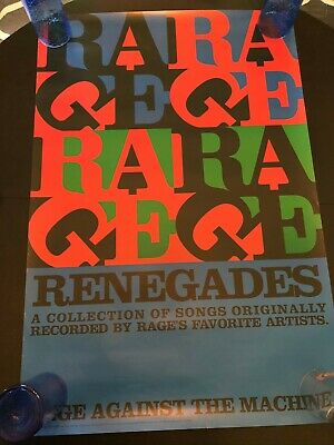 Rage Against The Machine Renegades Promo Poster 24X36 Original Excellent Cond.