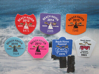 7 Year Collection  Beach  Haven  New  Jersey  Seasonal  Beach  Badges/Tags