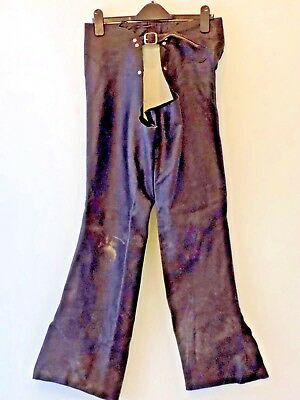 Chaps Black Leather