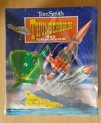 Vintage 1993 Tom Smith Thunderbirds Christmas Crackers 10 Pack Sealed New Rare