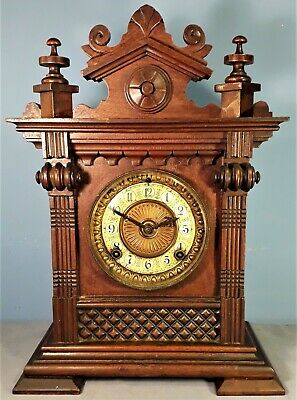 Antique Ansonia Salem 8 Day Striking Mantel Clock, Working order