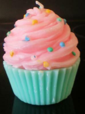 Latex Mould for making this ice cream style cupcake candle/soap