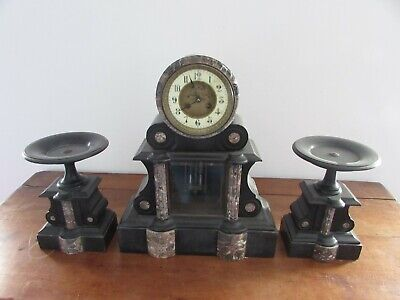 very pretty pendulum notary napoleon the 3rd in marble black