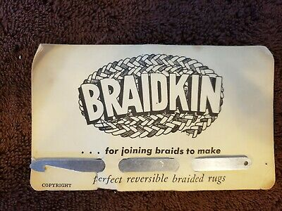 Braidkin Tool for joining braids to make perfect reversible braided rugs