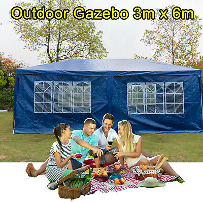 3X6M Garden Gazebo Wedding Marquee Beach Party Shelter Market Canopy Clearance T