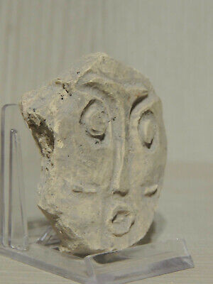 Antique Stone Fragment Face Figure statuette Idol,god,Alien
