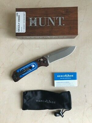 "Benchmade Hunt 15060-2 Grizzly Creek Folding Knife 3.50"" S30V Blade w/Hook *New*"