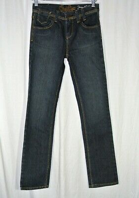 Mens Boys Oneill 28 x 30 Slim Stringer Fit Jeans Dark Blue Denim Size 5 Pockets