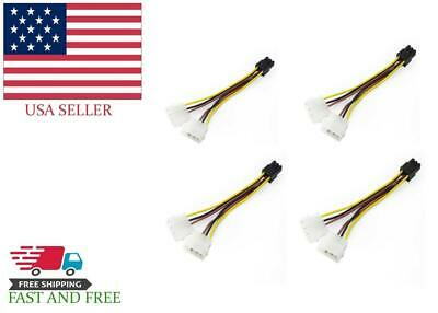 """3.5/"""" Front Bay IDE 40-Pin /& 4-Pin Molex Power Adapter CablesOnline MK-210"""