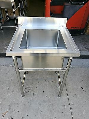 Brand New Commercial Stainless Steel Single Sink 600 x 600 x 900 mm