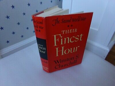 The Second World War Their Finest Hour By Winston Churchill Book Dust Jacket '49
