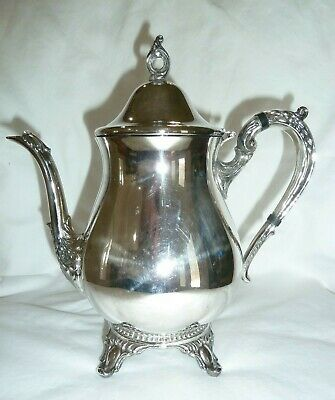 Vintage Silver/Silver Plated Tea/Coffee Pot~~Unbranded~~32 Oz