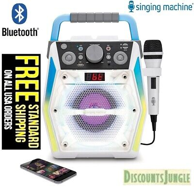 Singing Machine SML2200 Karaoke System Disco Lights Bluetooth CD/USB /Microphone