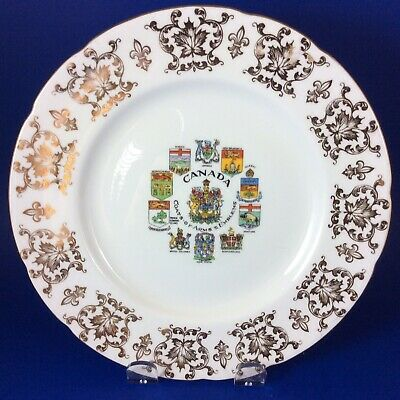 """Paragon Canada Coat Of Arms And Emblems Fine Bone China 8"""" Salad Plate"""