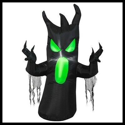3.5 ft Prelit Inflatable Scary Black Tree Airblown Spooky Yard Halloween Decor