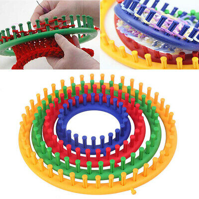 DIY Knitting Looms Durable With Hook Needle Craft Kit Tool PP Round Portable