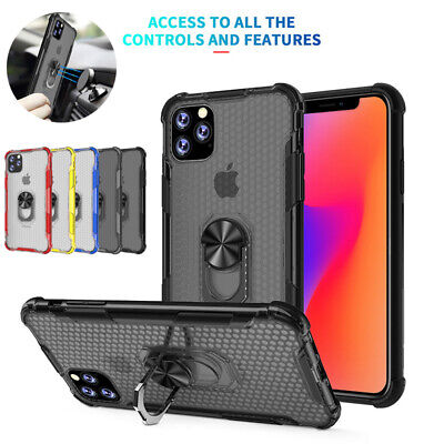 Magnetic Ring Holder Hybrid Bumper Armor Case Cover For iPhone 11 Pro Max XR XS