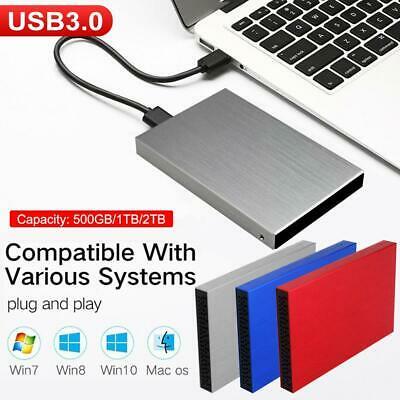 500GB 1TB 2TB Portable External Hard Drive USB3.0 For Laptop/PC/MAC/Xbox One/PS4