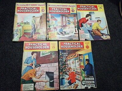PRACTICAL HOUSEHOLDER DIY 1960, 61,62.   6 magazines