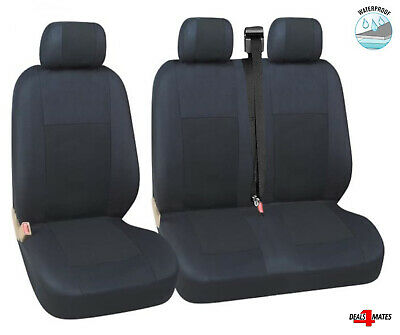 For Vauxhall Opel Vivaro Movano Waterproof Black Quality Fabric Van Seat Covers