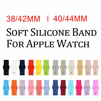 Silicone Strap Band For Apple Watch Series iWatch 5 4 3 2 1  38MM 42MM 40MM 44MM