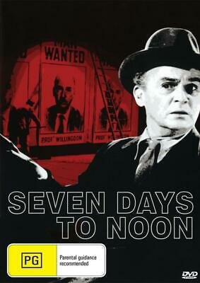 Seven Days To Noon - Barry Jones - New Dvd - Free Local Post